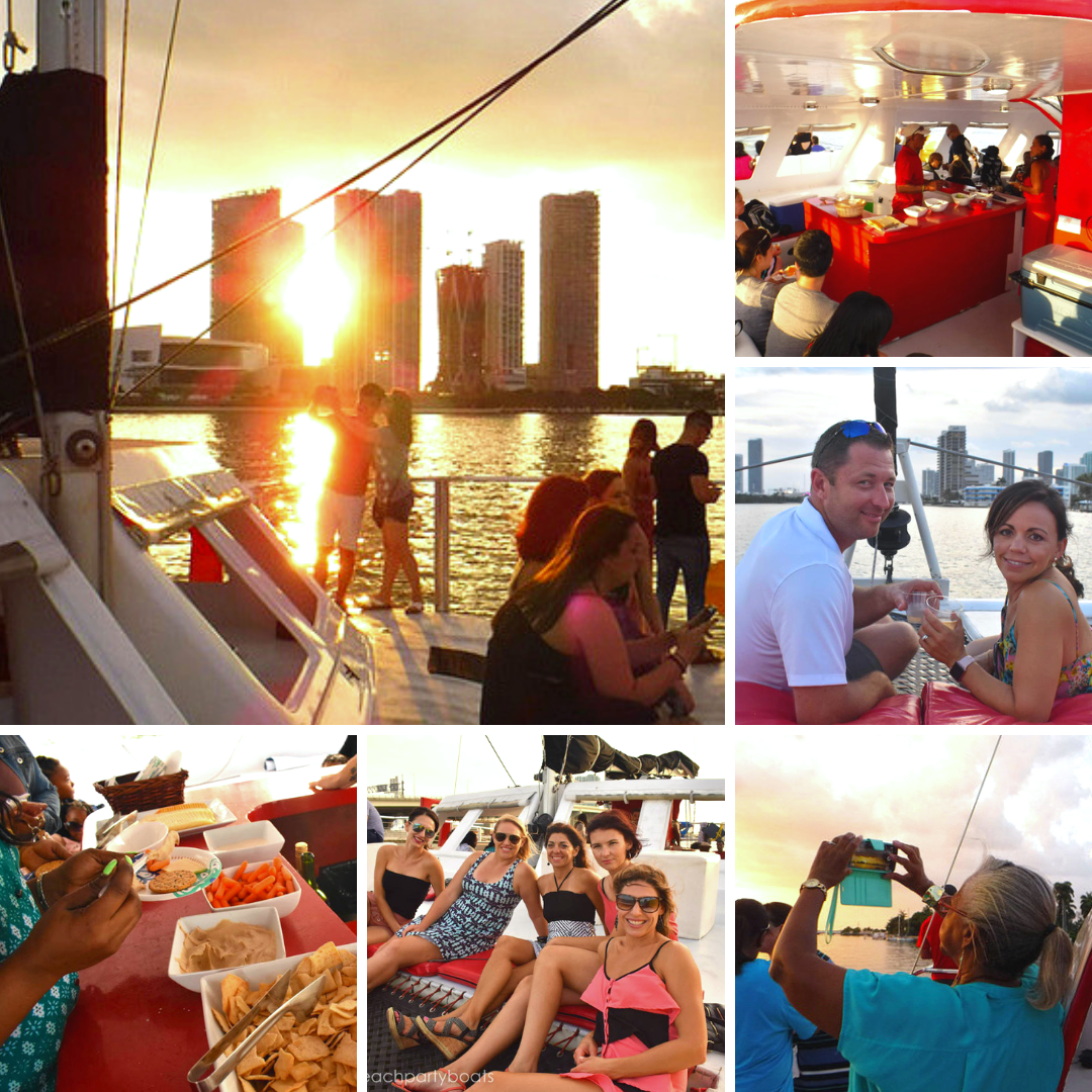 Star Island Miami's south beach sunset sail booze cruise