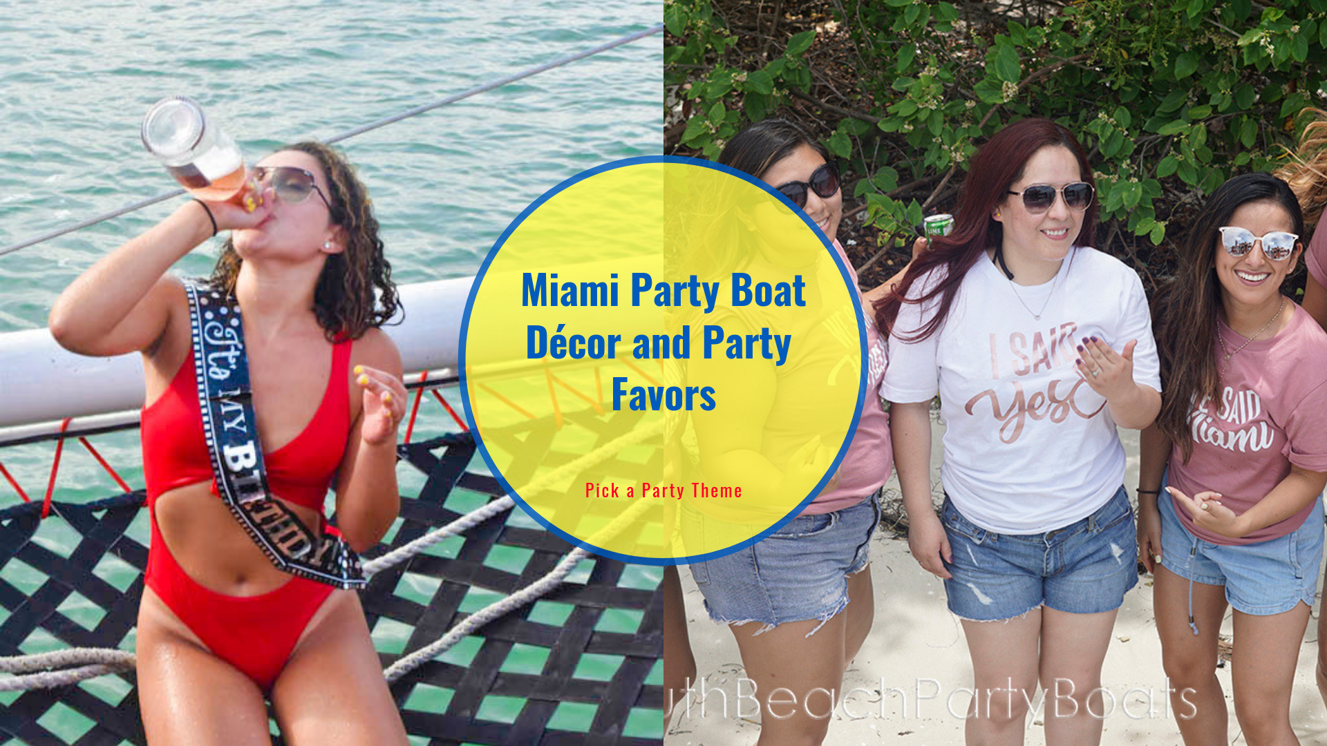 Miami-PartyBoat-Décor-and-Party-Favors