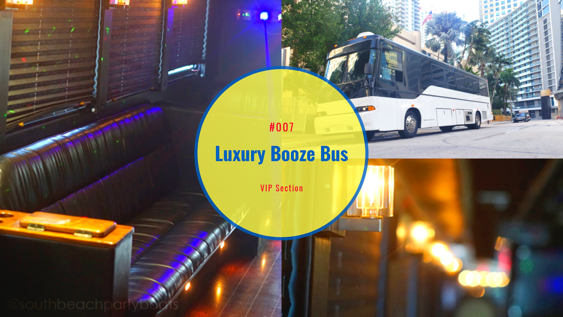 party bus club hopping party bus and club packages, miami shuttle van,