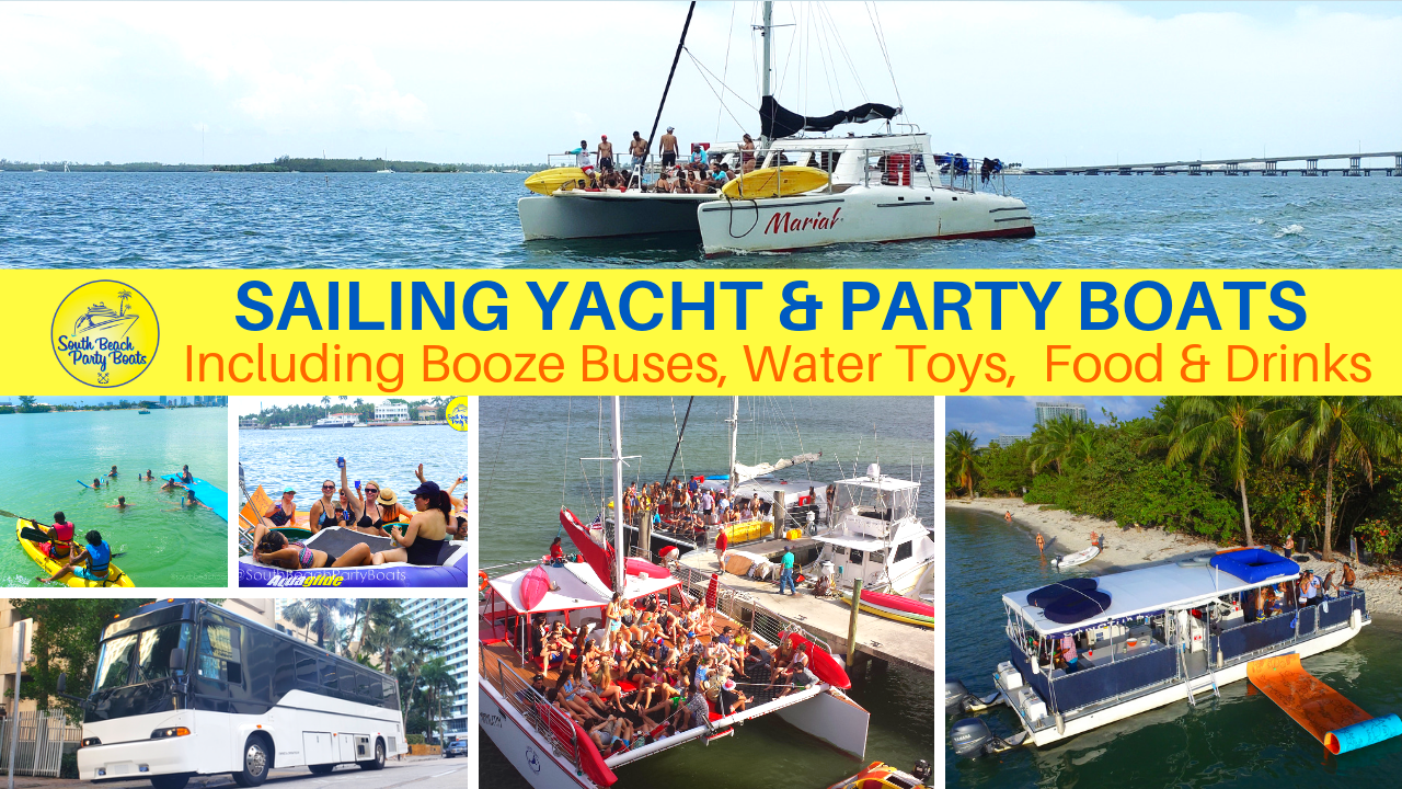 sailing yacht booze bus party boat