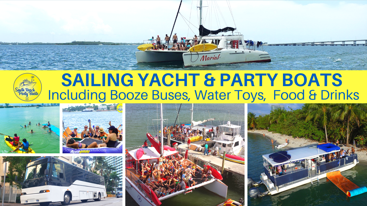 South Beach Party Boats Catamaran Boat Yacht Charters