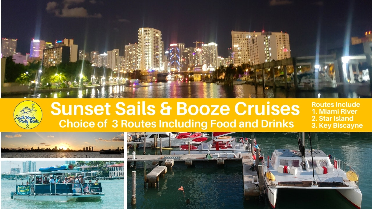 Things to do in MiamiMiami Sunset Sail South Beach Booze Cruise