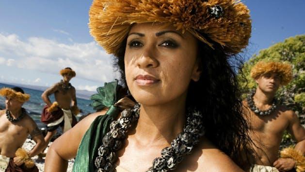 Hawaiian Luau Performers Posing