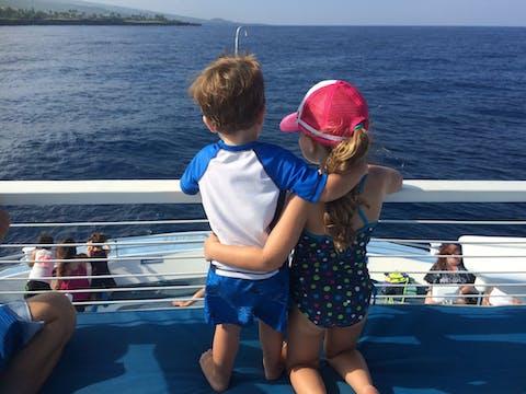 Kids on Kona Boat Cruise