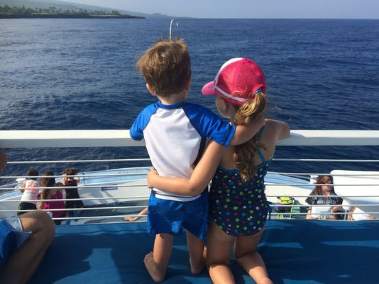 Kids on Kona Boat Cruise