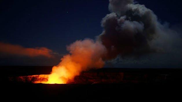 Hawaii Volcano at Night