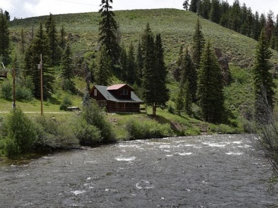 River house on river