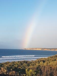 stnning Rainbow Pic near Split Point Lighthouse