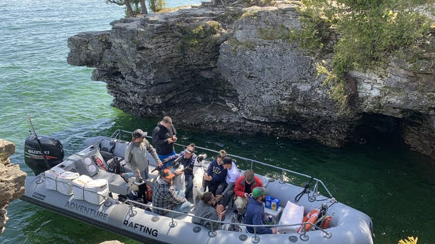 Door County Boat Tours of shipwrecks, lighthouses, and Cave Point
