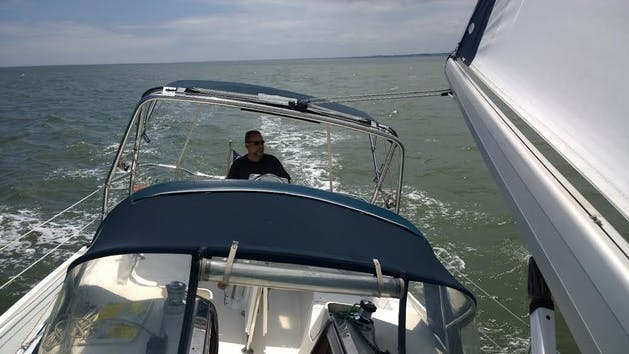View From Front Of Sailboat