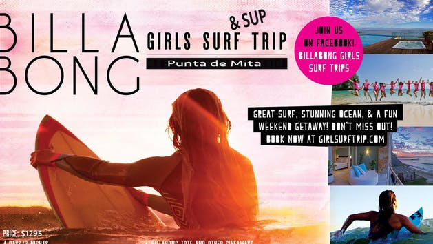 Mexico Girls Surf Trip flyer