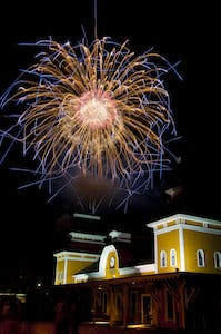 Fireworks over Conway Station
