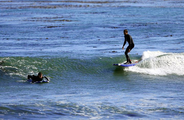 Surf School Santa Cruz students