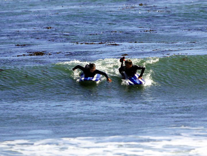 Surfing lessons with Surf School Santa Cruz