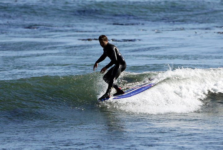 Surfing with Surf School Santa Cruz