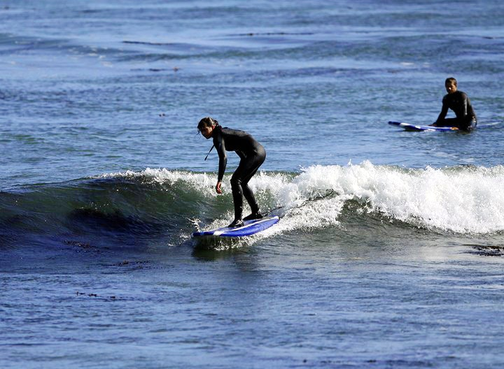 Learning to surf in Santa Cruz