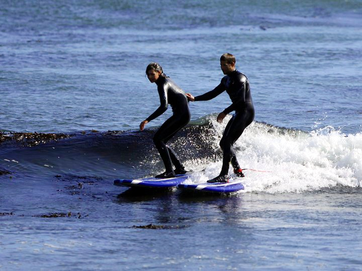 Private surf lesson with SSSC