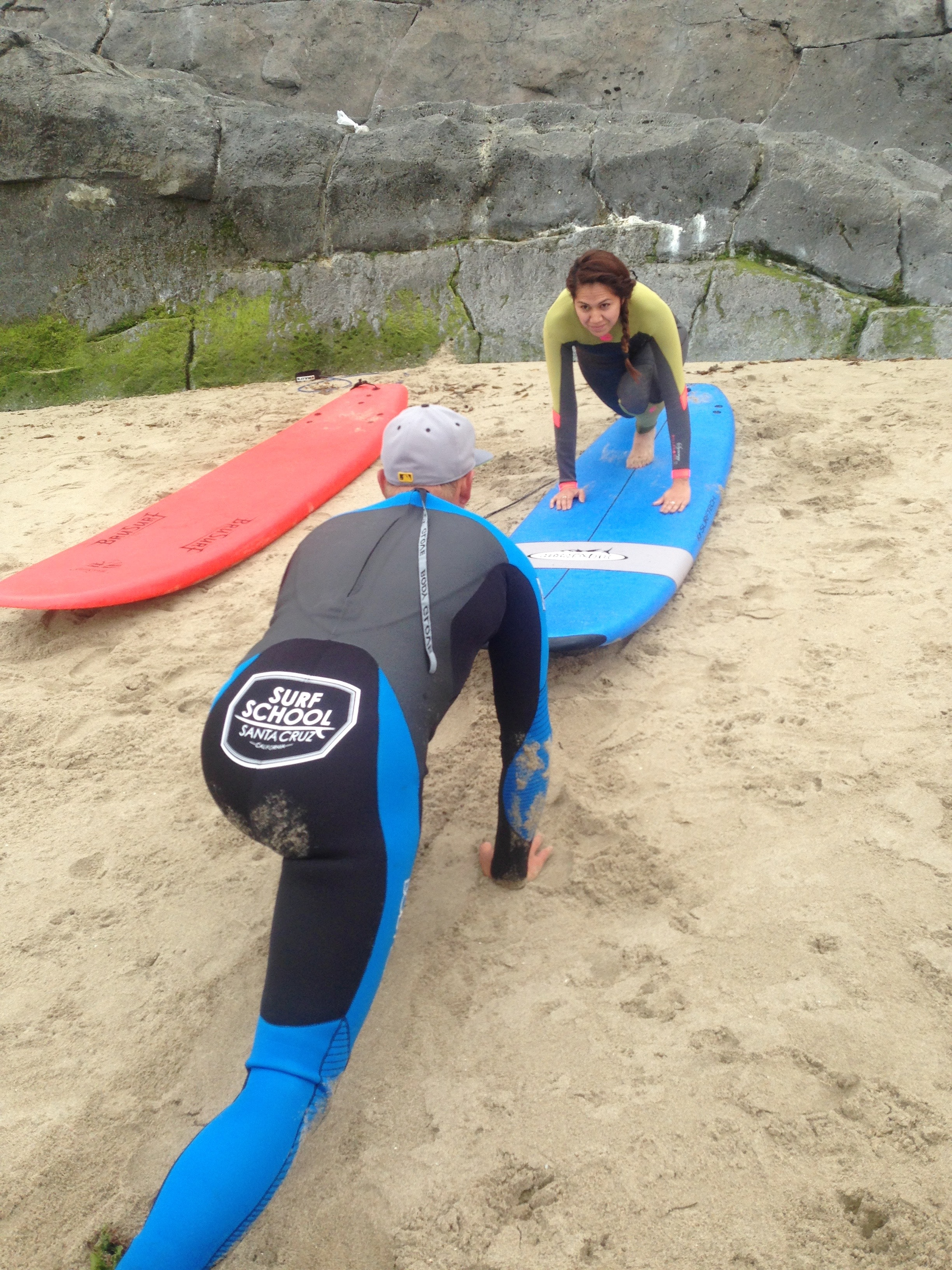Learning surf technique
