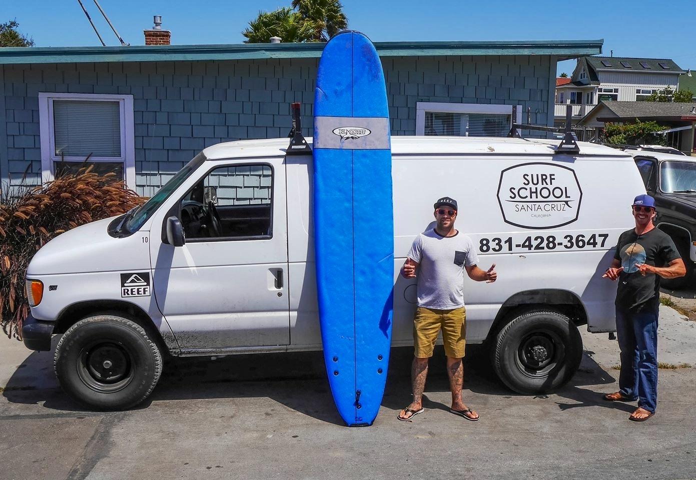 Surf School Santa Cruz van