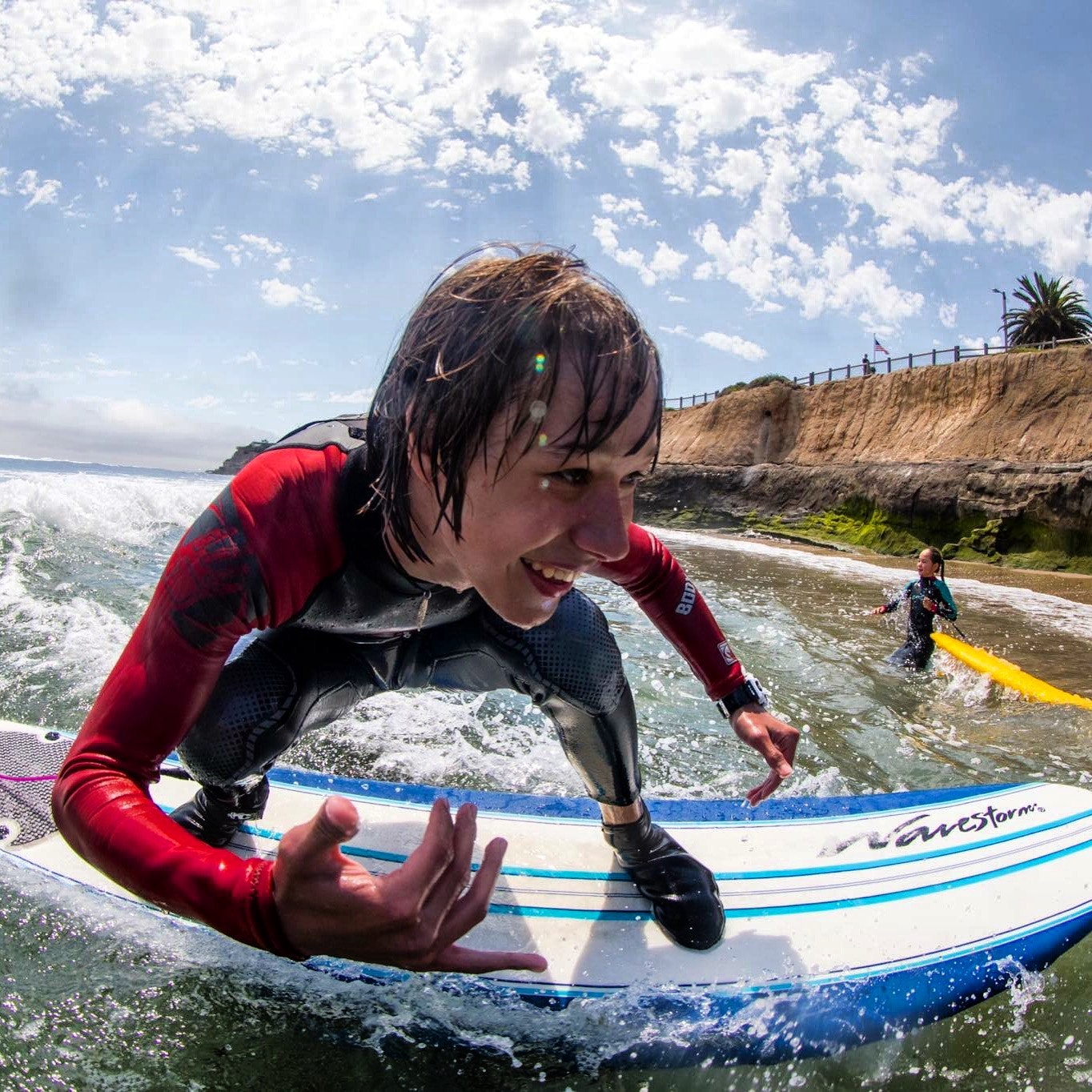Young Santa Cruz surfer