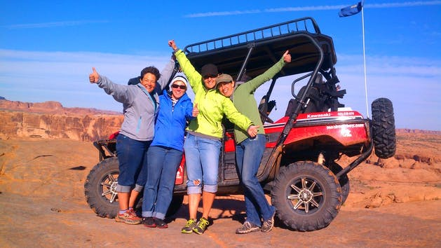 Moab UT UTV Tour Guests